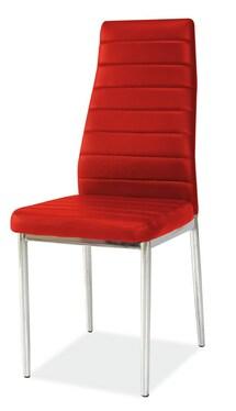 Krzesło Lastad czerwone na błyszczącej podstawie