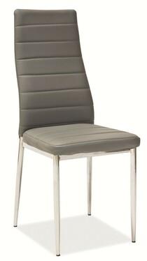 Krzesło tapicerowane Lastad szare na błyszczącej podstawie