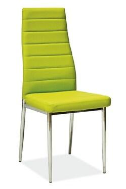 Krzesło Lastad zielone na błyszczącej podstawie