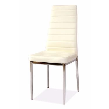 Krzesło Lastad białe na błyszczącej podstawie