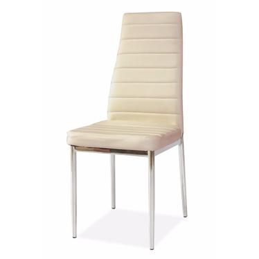 Krzesło Lastad kremowe na błyszczącej podstawie