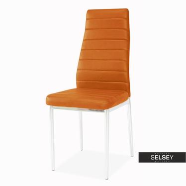 Krzesło Lastad pomarańczowe na błyszczącej podstawie