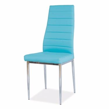 Krzesło Lastad niebieskie na błyszczącej podstawie