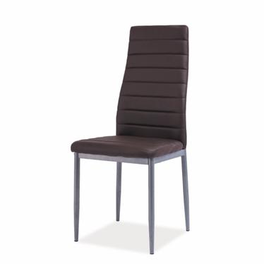 Krzesło Lastad brązowe na satynowej podstawie
