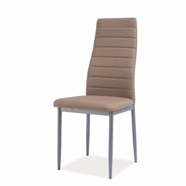 Krzesło Lastad beżowe na satynowej podstawie