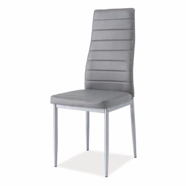 Krzesło Lastad szare na satynowej podstawie
