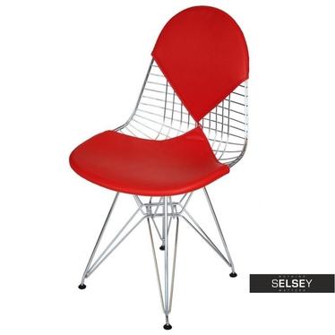 Krzesło Net double czerwona poduszka
