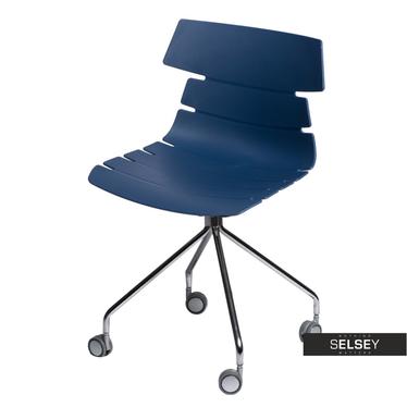 Fotel biurowy Techno Roll niebieski