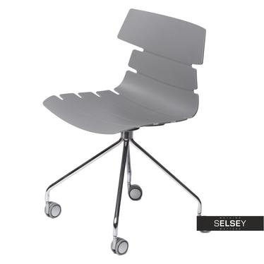 Fotel biurowy Techno Roll szary