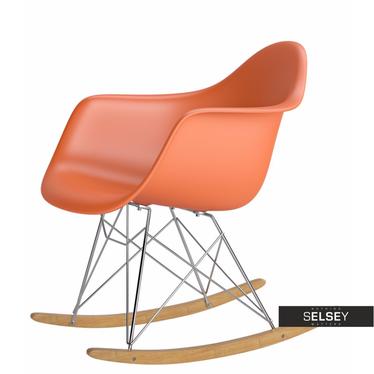 Fotel bujany inspirowany Rar pomarańczowe
