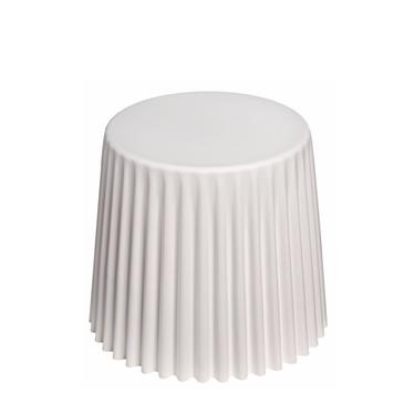 Stolik kawowy Cork średnica 47 cm biały