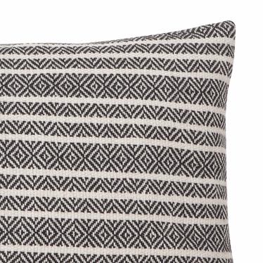 Poduszka z poszewką Winford biało czarna 30x50 cm