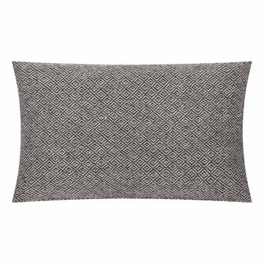 Poduszka z poszewką Kenley biało czarna 30x50 cm
