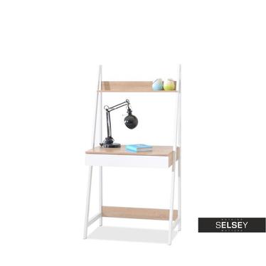 Designerskie biurko Dalen biały i sonoma