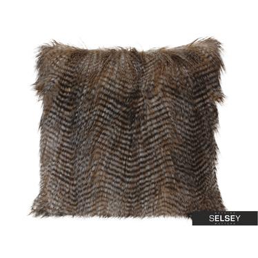 Poduszka z poszewką Furry z długim włosiem 45x45 cm