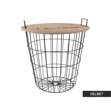 Stolik kawowy Basket średnica 38,5 cm z uchwytami