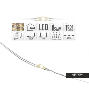 Oświetlenie LED 200 lampek