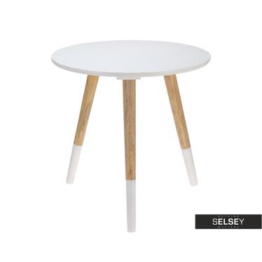 Stolik kawowy okrągły Haga ø 41 cm biały