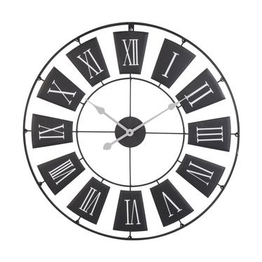 Stylowy zegar ścienny metalowy średnica 70 cm czarny