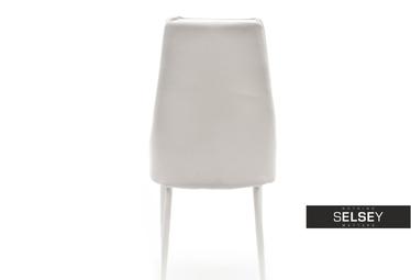 Krzesło Bolzano na stalowych nogach