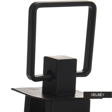 Latarenka metalowa 13 cm czarna