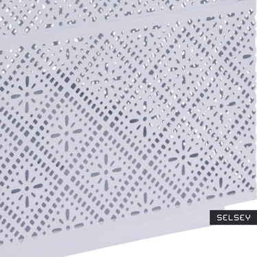 Latarenka metalowa 21 cm biała
