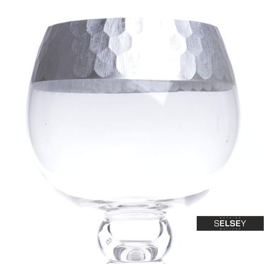 Kielich szklany ze srebrnym zdobieniem 30, 35 i 40 cm