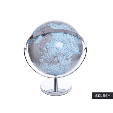 Globus szaro - niebieski średnica 25 i 32 cm