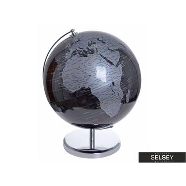 Globus czarno - szary średnica 32 cm
