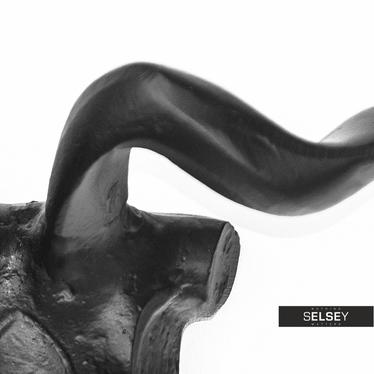 Dekoracja ścienna Szkielet głowy barana 29 cm czarny