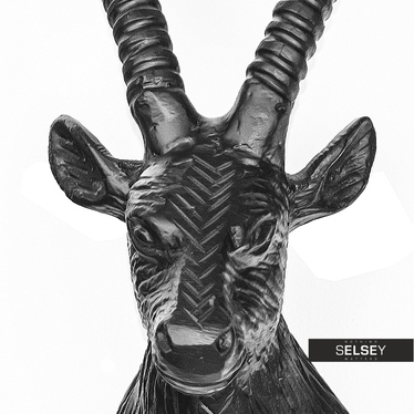 Dekoracja ścienna Głowa koziorożca 28 cm czarny