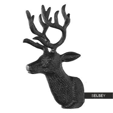 Dekoracja ścienna Głowa renifera 28 cm czarny