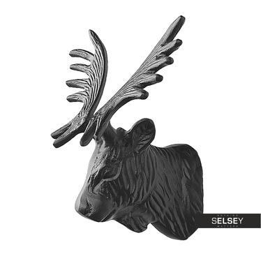 Dekoracja ścienna Głowa łosia 20 cm czarny