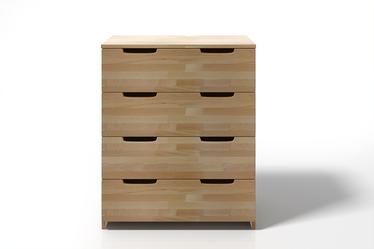 Komoda Halsa z drewna bukowego z czterema szufladami