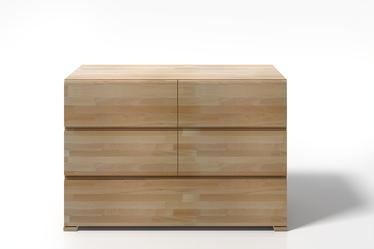 Komoda Loke z drewna bukowego z pięcioma szufladami
