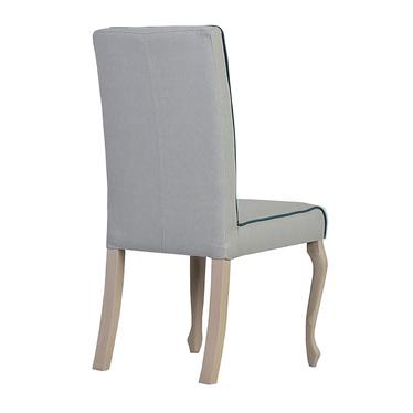 Krzesło Epoli z lamówką i prostym zwieńczeniem