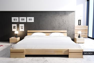Łóżko Lopar z drewna bukowego niskie