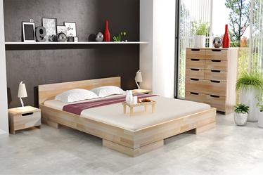 Szafka nocna Halsa z drewna bukowego niska