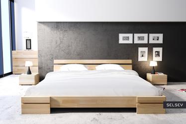 Szafka nocna Lopar z drewna bukowego niska