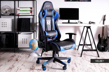 Fotel gamingowy Racer GTS czarno - niebieski