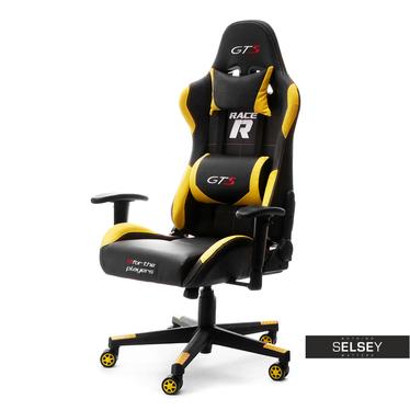 Fotel dla gracza Racer GTS czarno - żółty