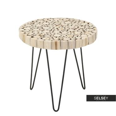 Stolik kawowy Teak średnica 50 cm