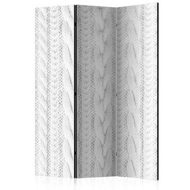 Parawan 3-częściowy - Biały splot