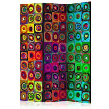 Parawan 3-częściowy - Kolorowy abstrakcjonizm