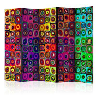 Parawan 5-częściowy - Kolorowy abstrakcjonizm