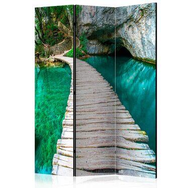 Parawan 3-częściowy - Szmaragdowe jezioro