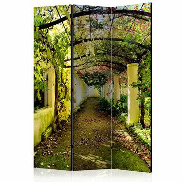 Parawan 3-częściowy - Romantyczny ogród