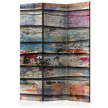 Parawan 3-częściowy - Kolorowe drewno