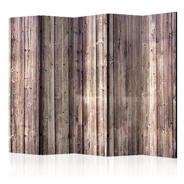 Parawan 5-częściowy - Drewniany urok
