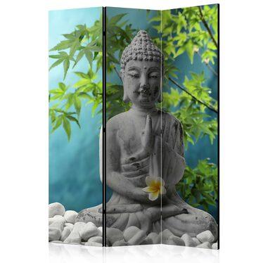Parawan 3-częściowy - Medytujący Budda